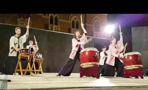 Il video dello spettacolo dei tamburi giapponesi Taiko Fudendaiko a Casalmaggiore