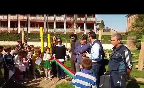 Inaugurata area gioco bimbi sul Serio