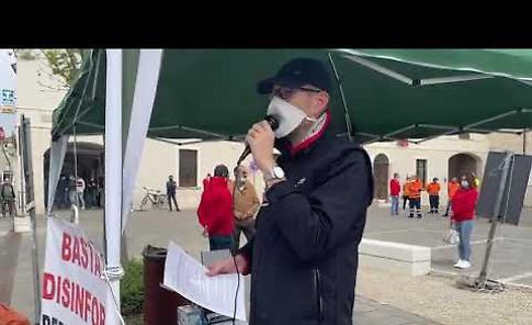VIDEO Trasporti pesanti, la protesta dei lavoratori contro il Comune