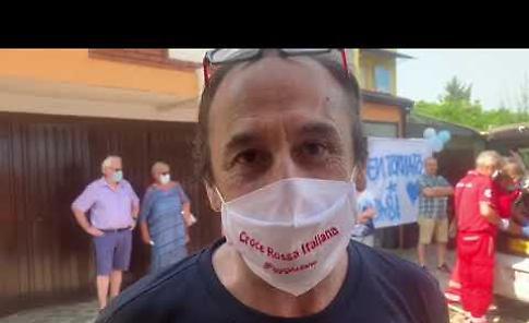 VIDEO Il ritorno a casa del presidente della Cri Pizzighettone Giacomo Moncini
