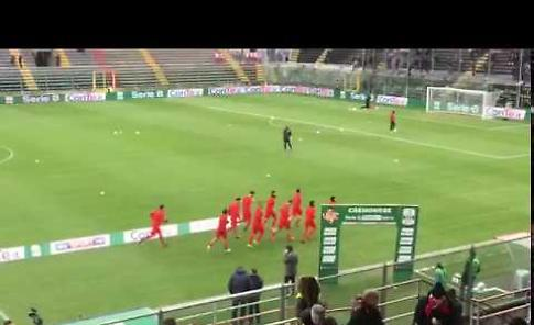 VIDEO Cremonese Pro Vercelli, così in campo