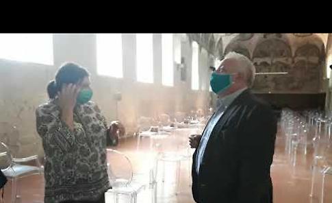 VIDEO L'assessore regionale alla Cultura Galli, in visita al museo di Crema