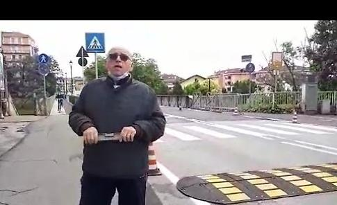 VIDEO Intervento di Simone Beretta sui dossi del ponte di via Cadorna