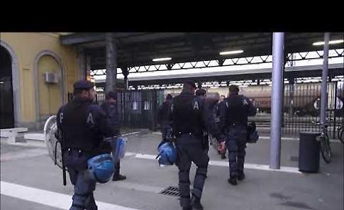 VIDEO L'arrivo dei tifosi del Brescia calcio