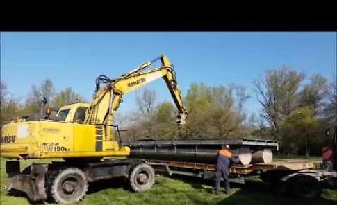 VIDEO Lo spostamento dell'attracco fluviale sul Po
