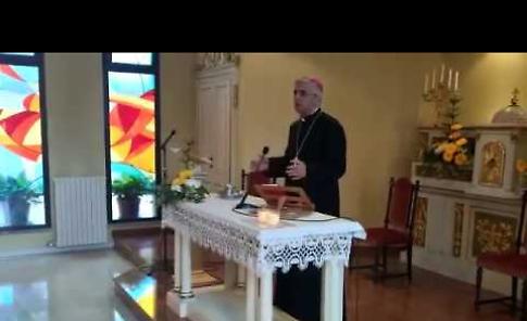 VIDEO La visita del vescovo Napolioni alla Fondazione Ospedale Caimi