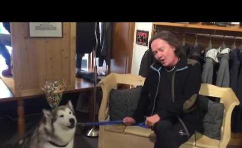 Red Canzian canta con Nanuke, una Alaskan Malamute non vedente della cremasca Piera