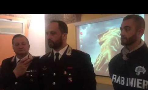 Operazione antidroga, la conferenza stampa dei carabinieri