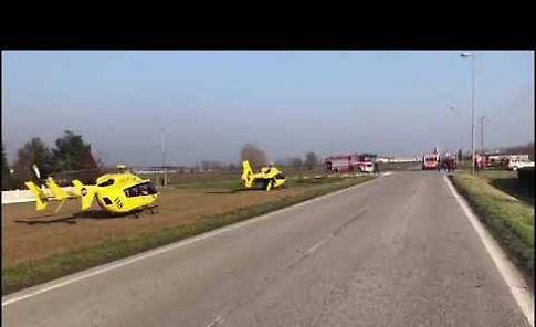 VIDEO L'incidente stradale di Rivarolo del Re