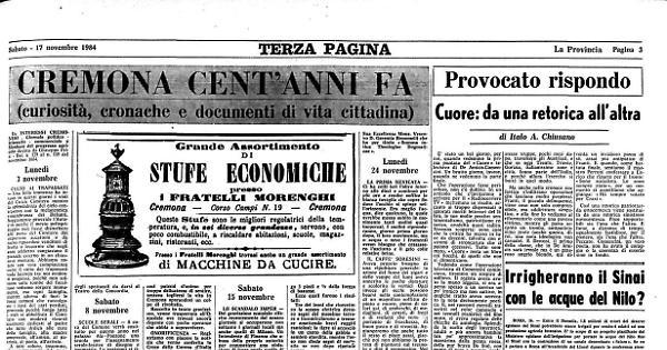 Cremona cent'anni fa - La Provincia