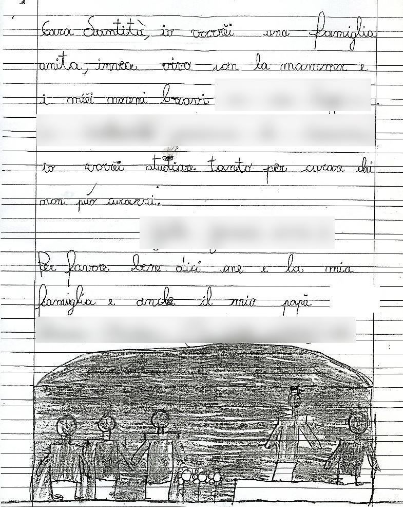 Lettera Al Papa Cara Santità Vorrei Una Famiglia Unita La