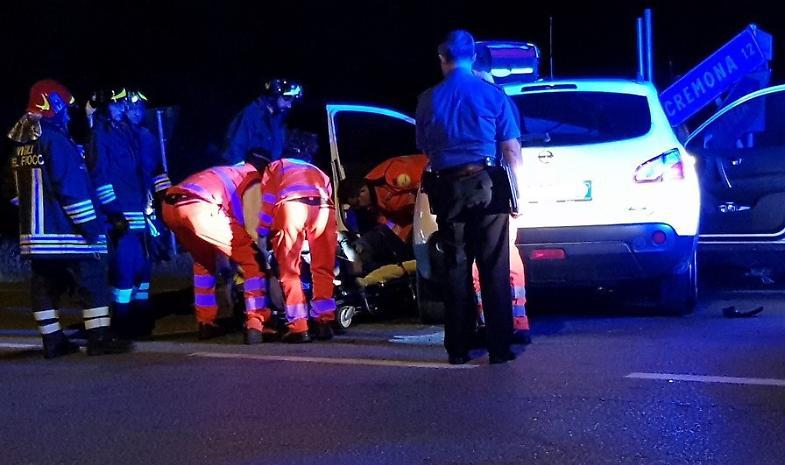 Monticelli, scontro a tre. Cinque feriti all'ospedale