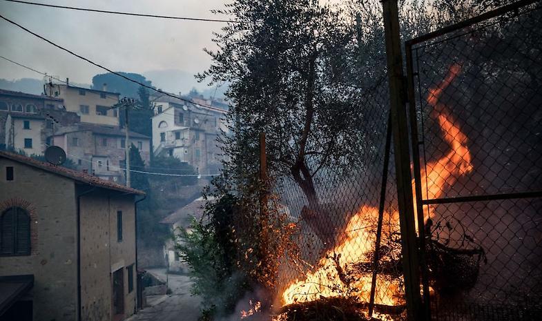 Anche i nostri Vigili del Fuoco nel Pisano per il grave incendio