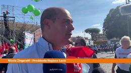 "Manifestazione antifascista, Zingaretti: ""Una festa per l'Italia"""